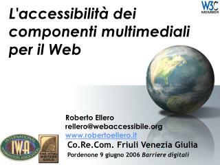L'accessibilità dei componenti multimediali per il Web