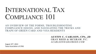 International  Tax  Compliance  101