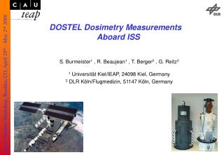 DOSTEL Dosimetry Measurements  Aboard ISS
