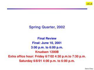 Spring Quarter, 2002