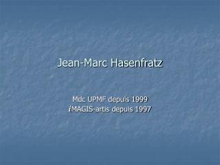 Jean-Marc Hasenfratz