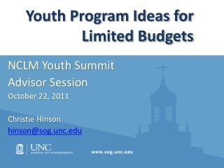 Youth Program Ideas for Limited Budgets