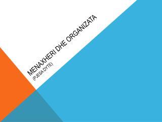 Menaxheri dhe Organizata ( pjesa dyte )