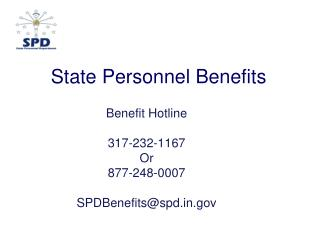 State Personnel Benefits