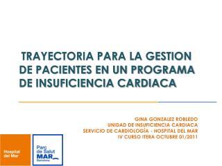 TRAYECTORIA PARA LA GESTION DE PACIENTES EN UN PROGRAMA DE INSUFICIENCIA CARDIACA