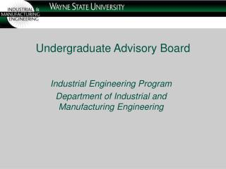 Undergraduate Advisory Board