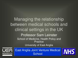Managing the relationship between medical schools and clinical settings in the UK