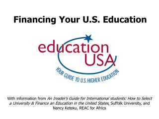 Financing Your U.S. Education