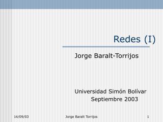 Redes (I)