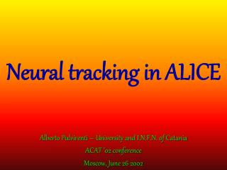 Neural tracking in ALICE
