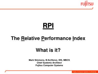 RPI  The Relative Performance Index  What is it