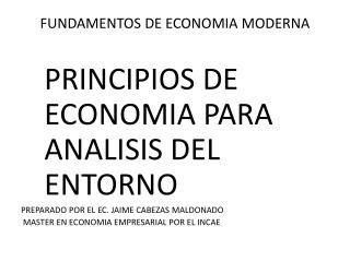 FUNDAMENTOS DE ECONOMIA MODERNA