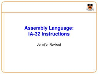 Assembly Language: IA-32 Instructions