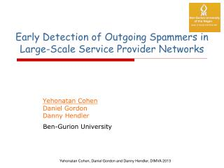Early Detection of Outgoing Spammers in Large-Scale Service Provider Networks