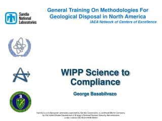 WIPP Science to Compliance