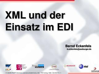 XML und der Einsatz im EDI