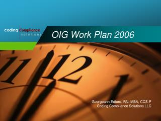 OIG Work Plan 2006