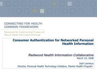 Consumer Authentication for Networked Personal Health Information