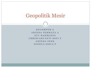 Geopolitik Mesir