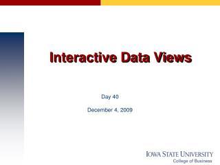 Interactive Data Views