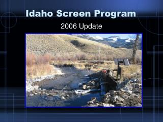 Idaho Screen Program