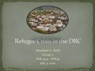 Refugee Crisis in the DRC