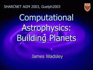 Computational Astrophysics:  Building  Planets
