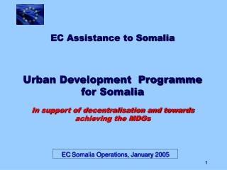 EC Somalia Operations, January 2005