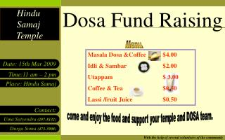 Dosa Fund Raising