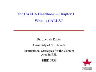 The CALLA Handbook � Chapter 1 What is CALLA?