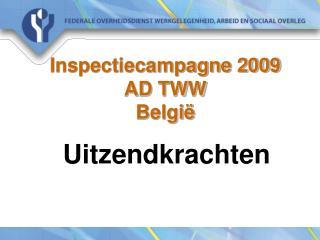 Inspectiecampagne 2009 AD TWW  Belgi�