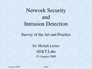 Network Security and Intrusion Detection