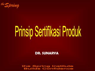 Prinsip Sertifikasi Produk
