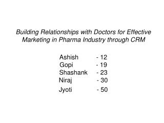 Indian Pharma Industry-Background