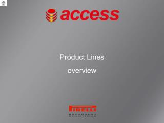 Product Lines  overview