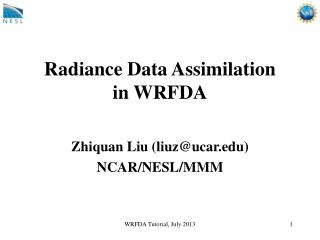 Radiance Data Assimilation  in WRFDA