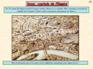 Rome, capitale de l Empire