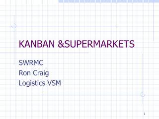 KANBAN &SUPERMARKETS