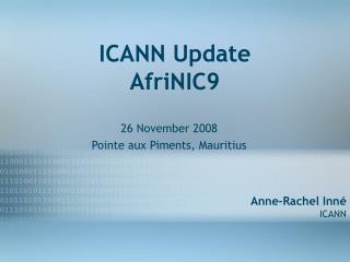 ICANN Update AfriNIC9