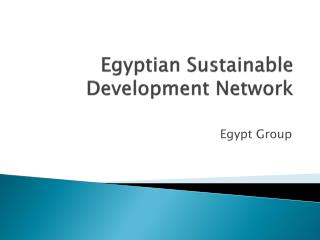 Egyptian Sustainable Development Network