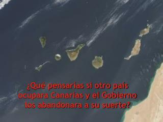 Qu  pensar as si otro pa s ocupara Canarias y el Gobierno los abandonara a su suerte