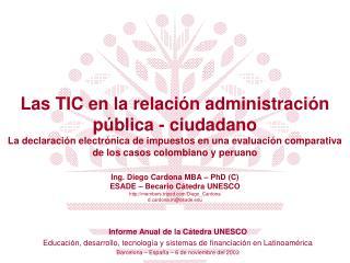 Informe Anual de la Cátedra UNESCO