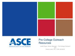 Pre-College Outreach Resources