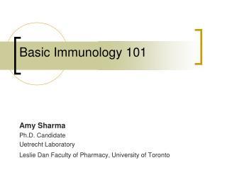 Basic Immunology 101
