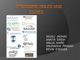 Sponsors' ROLES AND DUTIES