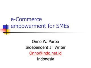 e-Commerce empowerment for SMEs