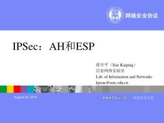 IPSec : AH 和 ESP