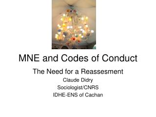 MNE and Codes of Conduct