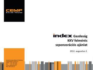 Gazdaság KKV felmérés szponzorációs ajánlat 2012.  augusztus  2.