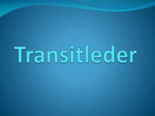 Transitleder